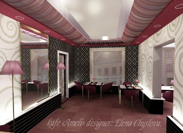 Дизайн интерьера кафе, бара, ресторана